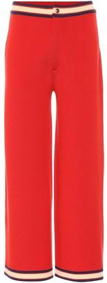 Gucci High-rise wide-leg wool pants