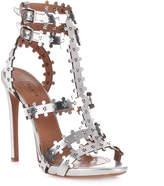 Alaia Metallic leather sandal