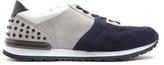 Tod's Suede and mesh low-top trainers