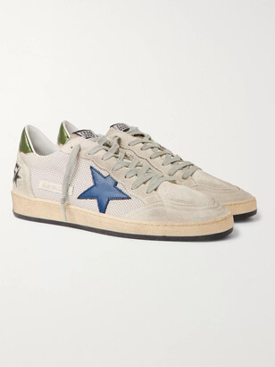 Golden Goose Ball Star Distressed Leather Sneakers