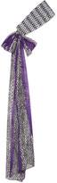 Missoni Crochet-knit And Printed Silk-chiffon Headband - Purple