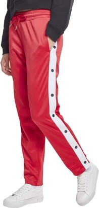 Urban Classics Women's Ladies Button Up Track Pants Sports Trousers