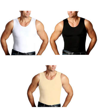 Insta Slim Men 3 Pack Compression Muscle Tank T-Shirts