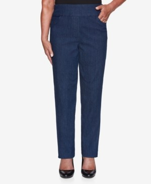Alfred Dunner Women's Missy Denim Friendly Proportioned Medium Pants