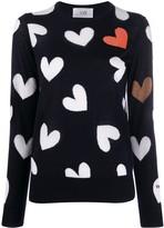 Victoria Victoria Beckham heart intarsia jumper