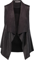 Tart Collections Hudsen draped faux suede and stretch-knit vest