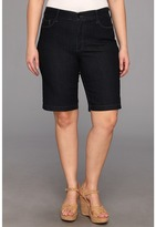 NYDJ Plus Size Plus Size Debby Short in Dark Enzyme