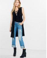 Express sleeveless soft trench coat