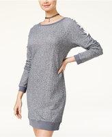 Planet Gold Juniors' Lace-Up Sweatshirt Dress