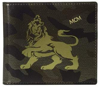 MCM Munich Lion Camo Flap Wallet/Two-Fold Small