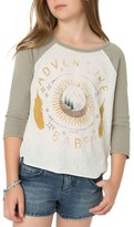 O'Neill Girl's Adventure Girl Graphic Baseball Tee