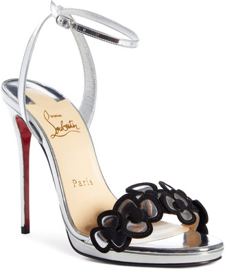 Christian Louboutin Pansy Queen Flower Ankle Strap Sandal