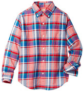 J.Crew Factory J. Crew Factory Long Sleeve Madras Plaid Button Front Shirt (Toddler, Little Boys, & Big Boys)