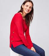 LOFT Side Button Tunic Sweater