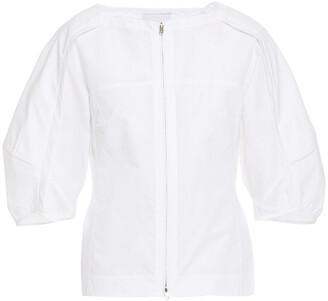 3.1 Phillip Lim Pleated Cotton-blend Poplin Top