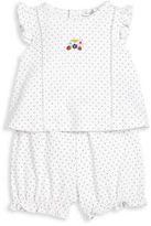 Kissy Kissy Baby's Two-Piece Strawberry Delight Dot Top & Shorts Set