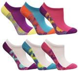 Fruit of the Loom Girls 6-Pack Of No-Show Tie-Dye Socks