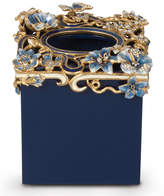 Jay Strongwater Hartley Delft Floral Scroll Tissue Box Cover