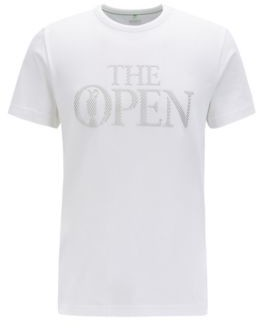BOSS The Open Exclusive logo T-shirt in stretch-cotton jersey