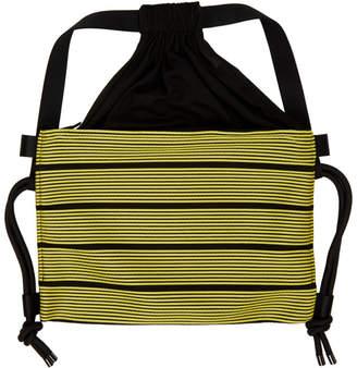Issey Miyake 132 5. Black and Yellow Stripe Bag