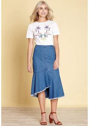 Yumi Floral Print Short-Sleeved T-Shirt