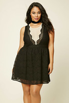 Forever 21 FOREVER 21+ Plus Size Crochet Lace Dress