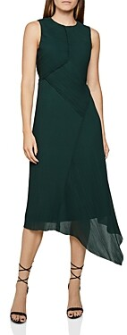 Reiss Rhona Micro Pleated Midi Dress