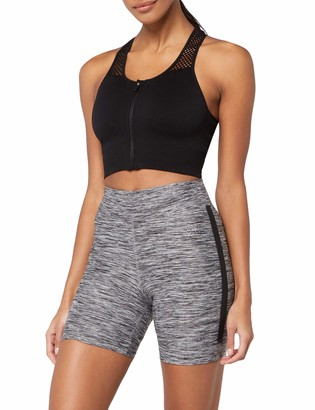 Aurique Amazon Brand Women's Side Stripe Cycling Shorts