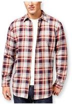 Club Room Mens Plaid Shirt Jacket Xl