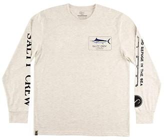 Salty Crew Marlin Mount Long Sleeve Tech Tee (White) Men's Clothing