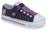 Skechers Girl's Twinkle Toes Shuffles Sparkly Jewels Light-Up Sneaker