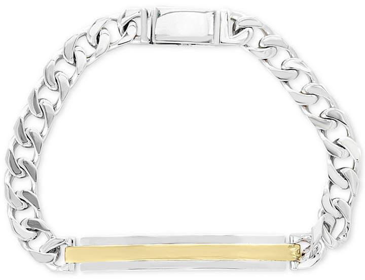 Effy Men's Two-Tone Id Plate Link Bracelet in Sterling Silver & 18k Gold Plate
