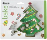 "Dexam 14 x 11.9 x 2.5 cm 6-Piece Make and Bake ""Christmas Tree"" Cookie Cutter Set, Sliver"