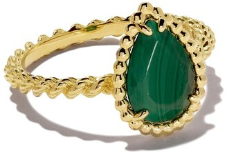 Boucheron 18kt yellow gold Serpent Boheme malachite S motif ring