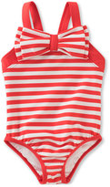 Kate Spade Striped One-Piece Swimsuit, Red, Size 7-14