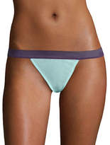 Design Lab Lord & Taylor Two-Tone Mesh Thong