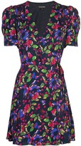 Saloni floral print wrap dress