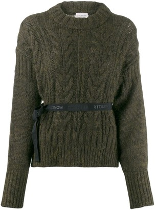 Moncler bow knitted sweater