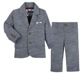 Andy & Evan Infant Boy's Chambray Blazer & Pants Set
