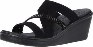 Skechers Rumble ON - Homecoming - Studded Multi-Strap Slide Black