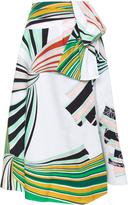Emilio Pucci A-Line Printed Midi Skirt