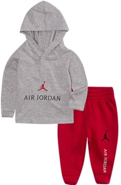 Jordan Baby Boys Hooded Shirt and Pants Set