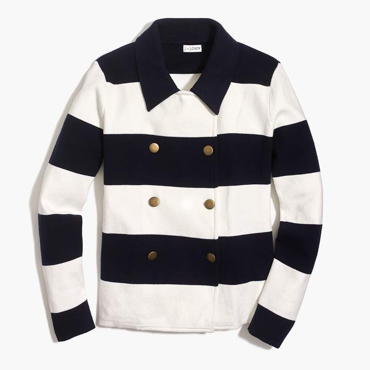 J.Crew Double-breasted sweater-blazer in stripe