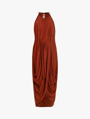 AllSaints Erin Gathered Detail Sleeveless Maxi Dress