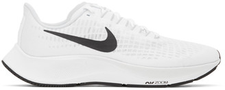 Nike White and Black Air Zoom Pegasus 37 Sneakers