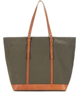 Vanessa Bruno Cabas Medium leather-trimmed canvas shopper