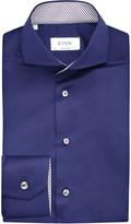 Eton Contrast-trim contemporary-fit cotton shirt