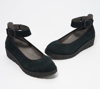 Earth Suede Wedge Shoe with Buckle - Zurick Sion