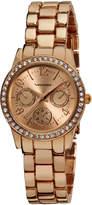 Vernier Rose Gold Rhinestone Bracelet Watch