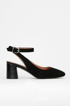 Wallis **Black Ankle Strap Heeled Shoe